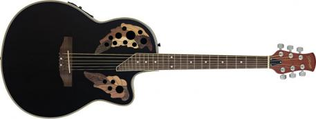 STAGG Shallow Bowl Cutaway A E Guitar – BLACK – Legacy Product