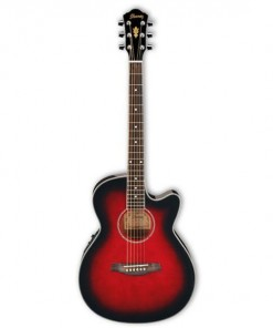 Ibanez AEG8E Acoustic Electric Guitar Transparent Red Sunburst