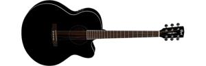 Cort CJ1F BK Acoustic Electric Guitar