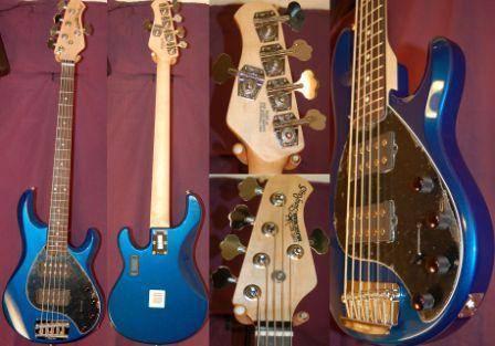 Musicman STINGRAY 5HS 3EQ SAPPHIRE BLACK W CASE